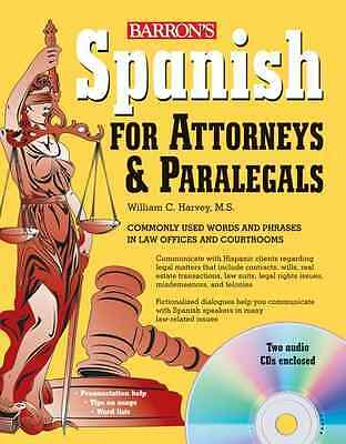 Spanish for Attorneys and Paralegals (Book & Audio CD) - Paperback NEW William H