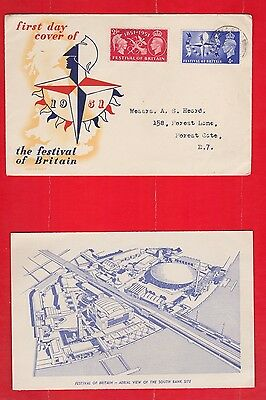 Exhibition, Festival of Britain 1951, First day cover, Picture, Bag