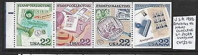 USA 1986 Ameripex booklet pane Stamp Collecting MNH