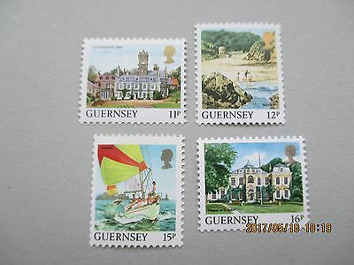 Guernsey 1987 Coil Stamps Set Of 4  U/mint Free Postage