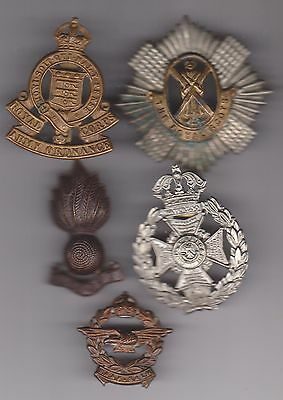 Military cap badges. Some old