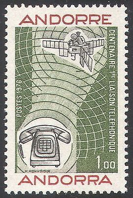 Andorra 1976 Telephone/Inventions/Science/Space/Communications 1v (n41714)