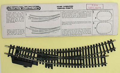 Hornby OO gauge R640 Left Hand Curved Points