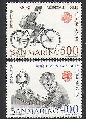 San Marino 1983 Postman/Bike/Bicycle/Radio/Communications 2v set  (n34643)
