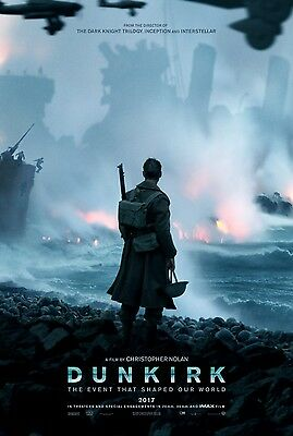 """DUNKIRK 2017 Advance Teaser DS 2 Sided 27X40"""" US Movie Poster Christopher Nolan"""