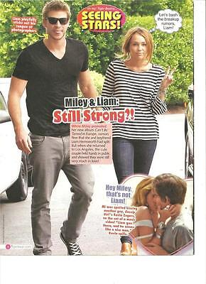 Miley Cyrus and Liam Hemsworth, Full Page Pinup Clipping