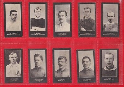 Smith's Cigarette cards, footballers, blue back 1910.  19 cards