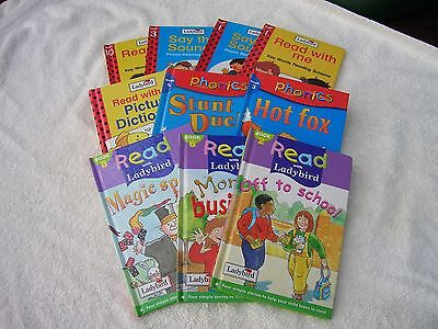 MIXED VINTAGE & MODERN LADYBIRD BOOKS 10 x READ WITH ME / PHONICS