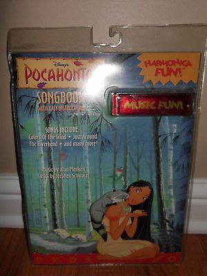 1995 Pocahontas Song Book w/ Harmonica in Sealed Package