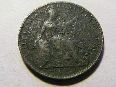 1822 George IV Farthing Coin - 22mm Dia   --