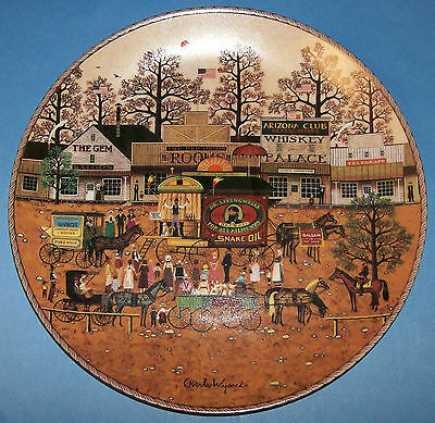 Charles Wysocki -Dr Livingwell's Medicine Show-from American Frontier collection