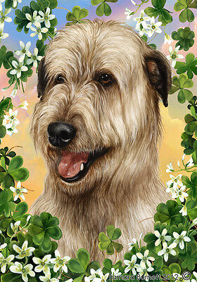 Large Indoor/Outdoor St. Patrick's Flag - Wheaten Irish Wolfhound 31330