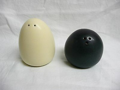 Art Pottery 'Pebble' Salt & Pepper Pots.