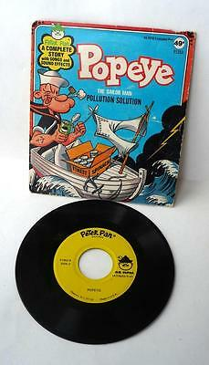 Popeye The-Sailor Man, Pollution Solution, Peter Pan-Records, 1970, 45 RPM