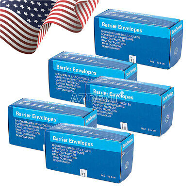 5Box Dental Barrier Envelopes #2 for Intra Oral X-Ray ScanX Phosphor Plate