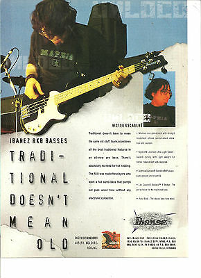 Unloco, Victor Escareno, Ibanez Basses, Full Page Promotional Ad