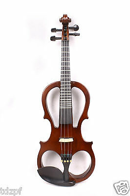 New 4/4 Electric Violin Silent Nice Sound Solid wood yinfente 19 fret #5-1