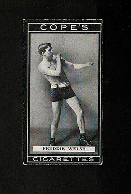 """Cope 1915 Superb Scarce ( Boxing ) Type Card """" # 18 Fred Welsh -- Boxers """""""