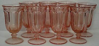 IMPERIAL GLASS crystal OLD WILLIAMSBURG peach ICED TEA GOBLET set of EIGHT (8)