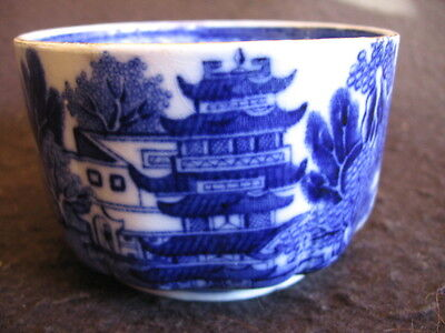 VICTORIAN KEELING & CO 'BROSELEY' (Willow) PATTERN SML SUGAR BOWL c.1890- EX