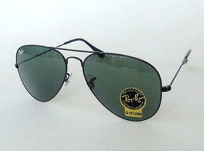 NEW RAY BAN RB3026 L2821 AVIATOR(LARGE) ARISTA BLACK /GREEN LENS SUNGLASSES62mm