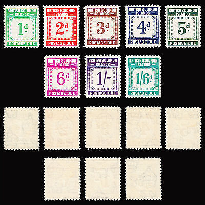 British Solomon Islands 1940 Postage Due set of 8 superb MLH SG D1/D8 CV £95