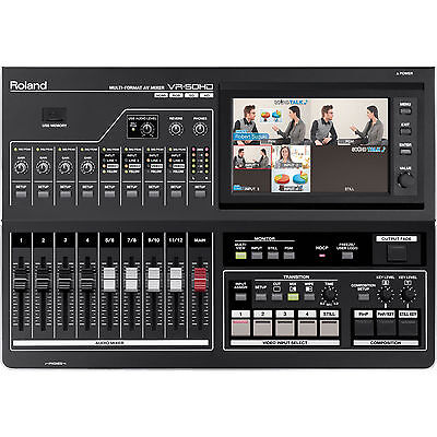 Roland VR-50HD Multi-Format Audio and Video Mixer with USB 3.0 for Web Streaming