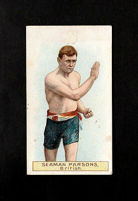 """Wills 1911 Scarce Action ( Boxing ) Type Card """" Seaman Parsons - Boxers Series """""""