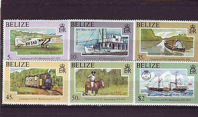 a117 - BELIZE - SG480-485 MNH 1979 CENTENARY OF UPU MEMBERSHIP