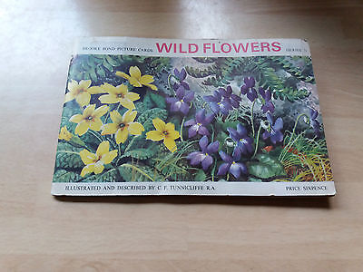 wild flowers  series  3  brooke bond   picture  cards   album  complete