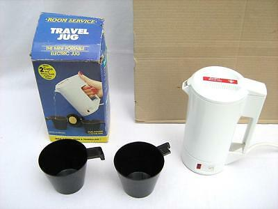 Travel jug mini electric kettle + 2  Cups  Light weight  VGC  Worldwide voltage
