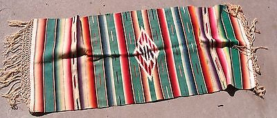 Old WESTERN Wool Rio Grande Native Table Textile