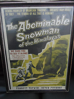 Fifties framed original vintage posters The Abominable snowman