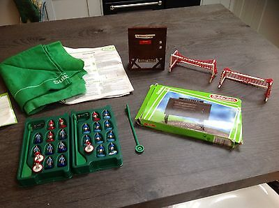 Subbuteo Football Pitch & Score Signs Players Etc