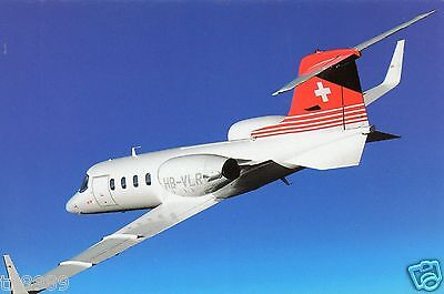 Cardair Postcard - Bombardier Learjet - Hb-Vlr Of Tag Aviation