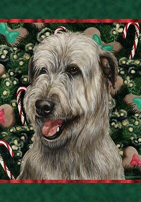 Garden Indoor/Outdoor Holiday Flag - Grey Irish Wolfhound 143291