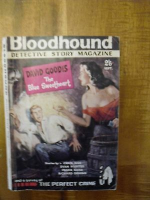 Bloodhound  Detective Story Monthly  September  1961  David Goodis story