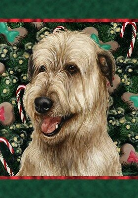 Garden Indoor/Outdoor Holiday Flag - Wheaten Irish Wolfhound 143301