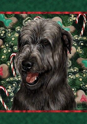 Garden Indoor/Outdoor Holiday Flag - Black Irish Wolfhound 141641