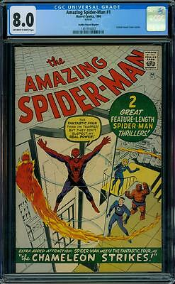 Amazing Spider-Man 1 CGC 8.0 - OW/W Pages - Golden Record Reprint