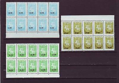 Belarus - Sg72-74 Mnh 1994 Surch On 1992 Stamps - Blocks Of 10