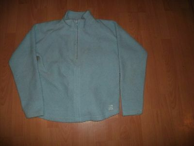 Craghoppers baby blue Thick  half Zip fleece size 12 good used condition