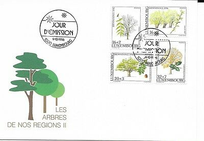 Luxembourg 1996 Trees FDC