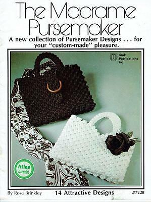 Vintage 70s Booklet - The Macrame Pursemaker  - 14 designs - see pictures