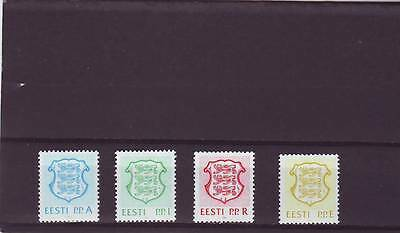 Estonia - Sg172-175 Mnh 1992 Value Expressed As A Letter