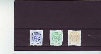 Estonia - Sg179-181 Mnh 1992 Value Expressed As A Letter