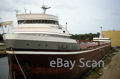 Original slide Great Lakes vessel EDWARD L RYERSON laid up 1999