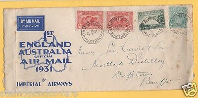 Australia 1931 FIRST ENGLAND to AUSTRALIA OFFFICIAL Air Mail by IMPERIAL AIRWAYS