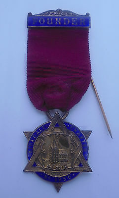 Masonic Founders Breast Jewel Silver 1919 Kirkdale Chapter No. 1756