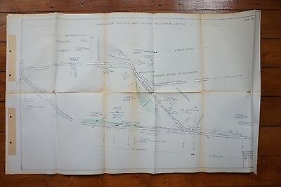1977 Manchester Victoria East Junction to Euxton Junction Railway Track Plan
